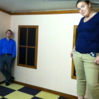 people inside the ames room